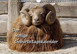 Der wollige Geburtstagskalender (Wandkalender immerwährend DIN A4 quer) von Berg,  Martina