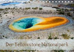 Der Yellowstone Nationalpark (Tischkalender 2021 DIN A5 quer) von by Sylvia Seibl,  CrystalLights