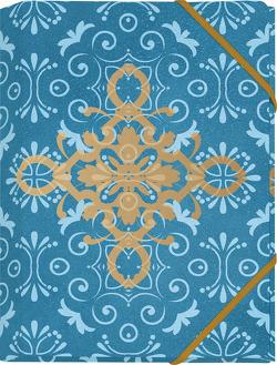 Der Zauber Indiens Mini-Sammelmappe Motiv Blaues Ornament von Schöll,  Stephan