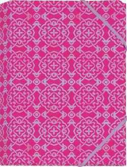 Der Zauber Indiens Mini-Sammelmappe Motiv Pinke Schneekristalle von Schöll,  Stephan