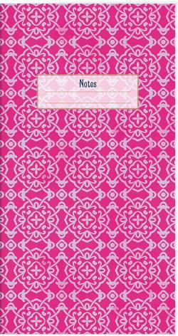 Der Zauber Indiens Schmales Notizheft Motiv Pinke Schneekristalle von Schöll,  Stephan