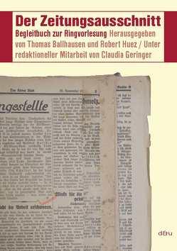 Der Zeitungsausschnitt von Ballhausen,  Thomas, Huez,  Robert