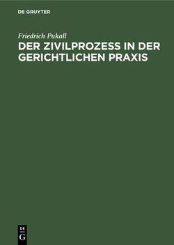 Der Zivilprozeß in der gerichtlichen Praxis von Pukall,  Friedrich