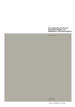 Der Zugkraftverlauf beim Zwischenauflager von Stahlbeton-Durchlaufträgen von Bachmann,  Hugo