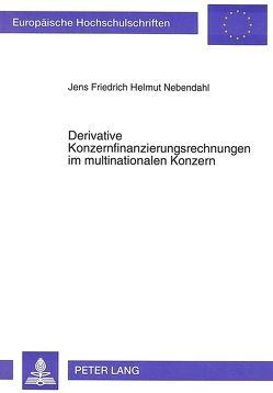 Derivative Konzernfinanzierungsrechnungen im multinationalen Konzern von Nebendahl,  Jens