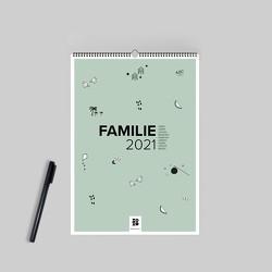 Design Familienwandkalender A3 quer (2021) von Garschhammer,  Anja