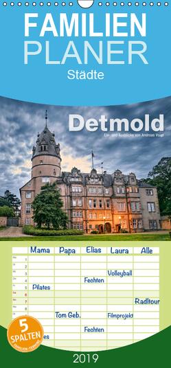 Detmold – Ein- und Ausblicke von Andreas Voigt – Familienplaner hoch (Wandkalender 2019 <strong>21 cm x 45 cm</strong> hoch) von Voigt,  Andreas