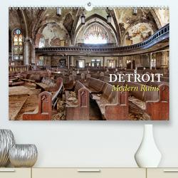 Detroit – Modern Ruins (Premium, hochwertiger DIN A2 Wandkalender 2021, Kunstdruck in Hochglanz) von Kersten,  Peter