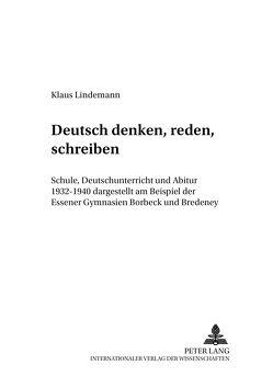 «Deutsch denken, reden, schreiben» von Lindemann,  Klaus