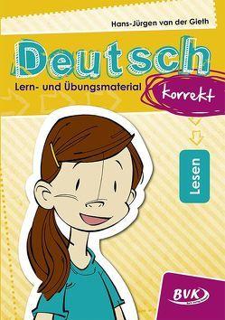 Deutsch korrekt – Lern- und Übungsmaterial: Lesen von van der Gieth,  Hans-Jürgen