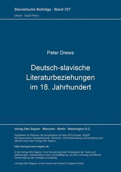 Deutsch-slavische Literaturbeziehungen im 18. Jahrhundert von Drews,  Peter