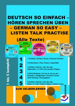 Deutsch So Einfach – Hören Sprechen Üben – German So Easy – Listen Talk Practise (Alle Texte) von Jans,  Klaus