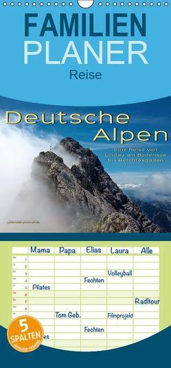 Deutsche Alpen, eine Reise von Lindau am Bodensee bis Berchtesgaden – Familienplaner hoch (Wandkalender 2019 , 21 cm x 45 cm, hoch) von Roder,  Peter