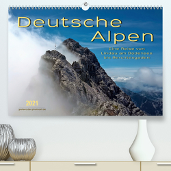 Deutsche Alpen, eine Reise von Lindau am Bodensee bis Berchtesgaden (Premium, hochwertiger DIN A2 Wandkalender 2021, Kunstdruck in Hochglanz) von Roder,  Peter