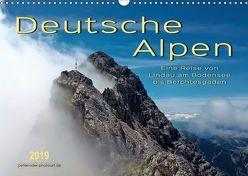 Deutsche Alpen, eine Reise von Lindau am Bodensee bis Berchtesgaden (Wandkalender 2019 DIN A3 quer) von Roder,  Peter