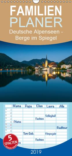 Deutsche Alpenseen – Berge im Spiegel – Familienplaner hoch (Wandkalender 2019 , 21 cm x 45 cm, hoch) von Wasilewski,  Martin