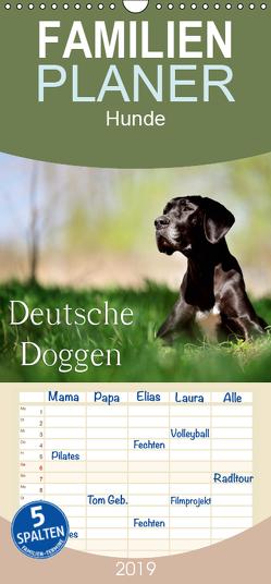 Deutsche Doggen / Geburtstagskalender – Familienplaner hoch (Wandkalender 2019 , 21 cm x 45 cm, hoch) von Noack,  Nicole