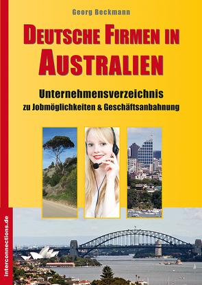 Deutsche Firmen in Australien von Beckmann,  Georg