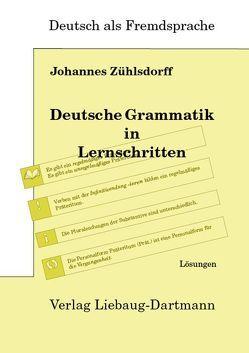 Deutsche Grammatik in Lernschritten von Zühlsdorff,  Johannes