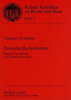 Deutsche Hochschulräte von Schmidt,  Thomas