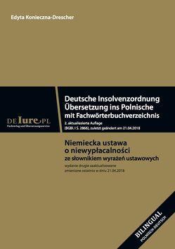 Deutsche Insolvenzordnung. Übersetzung ins Polnische mit Fachwörterbuchverzeichnis von de-iure-pl