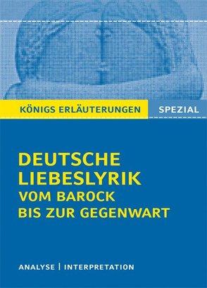 Deutsche Liebeslyrik vom Barock bis zur Gegenwart. von Blecken,  Gudrun