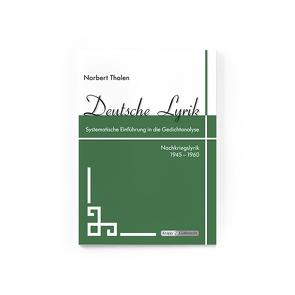 Deutsche Lyrik 1945 – 1960 von Tholen,  Norbert, Verlag GmbH,  Krapp & Gutknecht