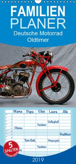 Deutsche Motorrad Oldtimer – Familienplaner hoch (Wandkalender 2019 , 21 cm x 45 cm, hoch) von Laue,  Ingo