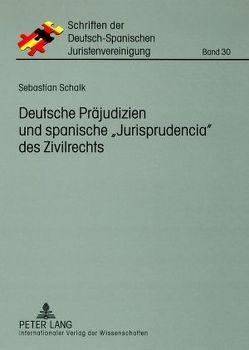 Deutsche Präjudizien und spanische «Jurisprudencia» des Zivilrechts von Schalk,  Sebastian