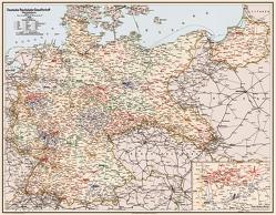 Deutsche Reichsbahn-Gesellschaft 1926 – Eisenbahn-Übersichtskarte von Heller,  M.