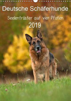 Deutsche Schäferhunde – Seelentröster auf vier Pfoten (Wandkalender 2019 DIN A3 hoch) von Schiller,  Petra