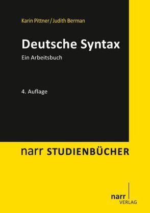 Deutsche Syntax von Berman,  Judith, Pittner,  Karin