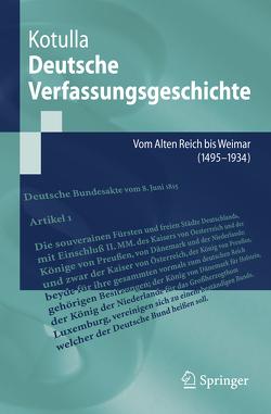 Deutsche Verfassungsgeschichte von Kotulla,  Michael