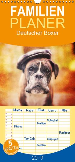 Deutscher Boxer – Familienplaner hoch (Wandkalender 2019 , 21 cm x 45 cm, hoch) von Mielke,  Kerstin