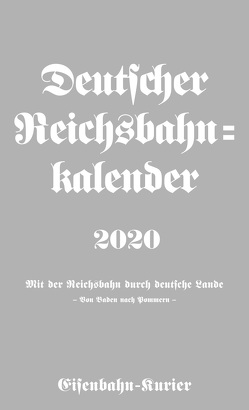 Deutscher Reichsbahn-Kalender 2020