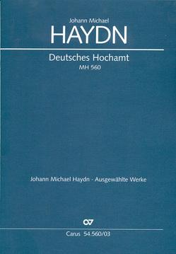Deutsches Hochamt (Klavierauszug) von Haydn,  Johann Michael