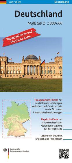 Deutschland 1: 1 000 000 von BKG - Bundesamt für Kartographie und Geodäsie