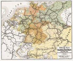DEUTSCHLAND 1862/1863. Officielle Karte der Eisenbahnen Deutschlands und der angrenzenden Länder (Plano) von Hartmann,  W., Rockstuhl,  Harald