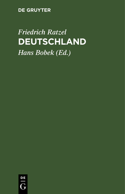 Deutschland von Bobek,  Hans, Ratzel,  Friedrich