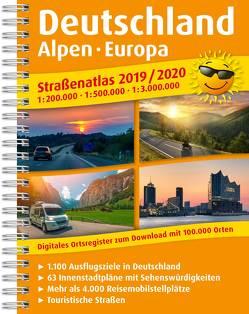 Straßenatlas 2019 / 2020 Deutschland, Alpen, Europa 1:200.000