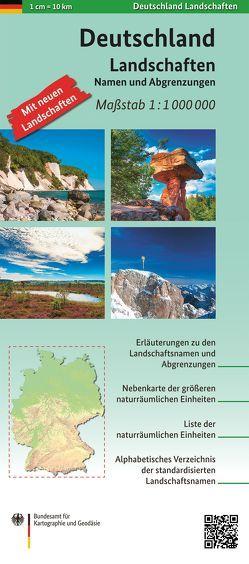 Deutschland Landschaften 1:1 000 000