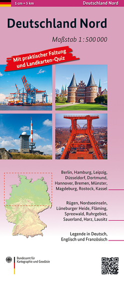Deutschland Nord 1:500 000 von BKG - Bundesamt für Kartographie und Geodäsie
