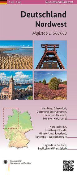 Deutschland Nordwest 1:500 000