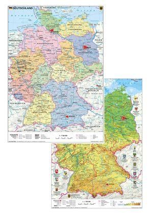 Deutschland physisch/politisch von Stiefel,  Heinrich