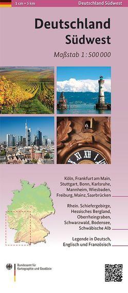 Deutschland Südwest 1:500 000
