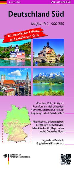 Deutschland Süd 1:500 000 von BKG - Bundesamt für Kartographie und Geodäsie