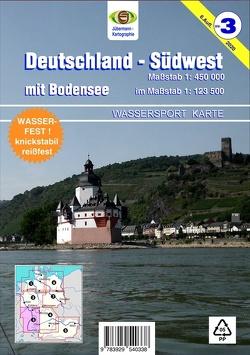 Deutschland Südwest mit Bodensee von Jübermann,  Erhard