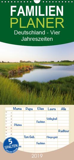 Deutschland – Vier Jahreszeiten – Familienplaner hoch (Wandkalender 2019 , 21 cm x 45 cm, hoch) von Bildarchiv,  Geotop