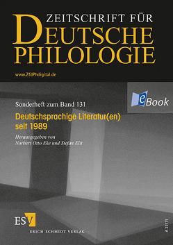 Deutschsprachige Literatur(en) seit 1989 von Eke,  Norbert Otto, Elit,  Stefan