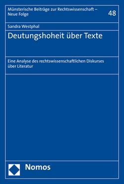 Deutungshoheit über Texte von Westphal,  Sandra
